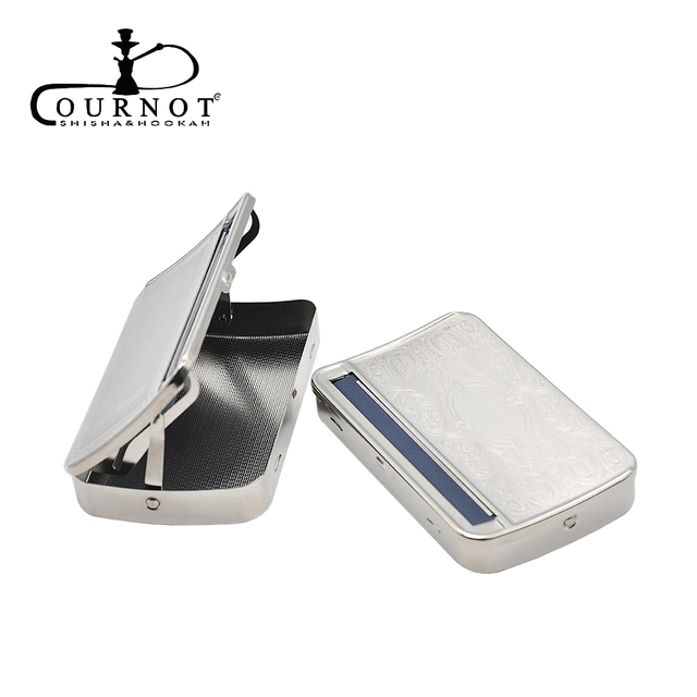 COURNOT Silver Metal Rolling Machine Case Box Smoking Pipe Rolling Machine for 110mm papers Cigarette Maker.Pattern Random