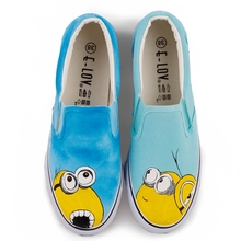 2019 Spring  Cartoon Animal Women Canvas Shoes Cute Shallow Designers Sneakers Hand-Painted Lazy Casual Slip-On Low Flats стоимость