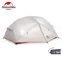 Naturehike Mongar 2 3 Person Tents Outdoor camping Double Layer 210T Polyester Waterproof Hiking Tourist Tent Ultralight