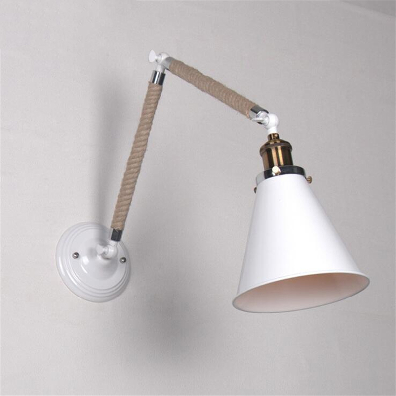 Loft Retro Industrial Bar Wall Lamp Stairs Corridor Balcony Simple Restaurant Creative Aisle Iron Hemp Rope Lamp Free Shipping personality creative rope restaurant wall light simple pastoral iron retro wall lamp double section turner lighting