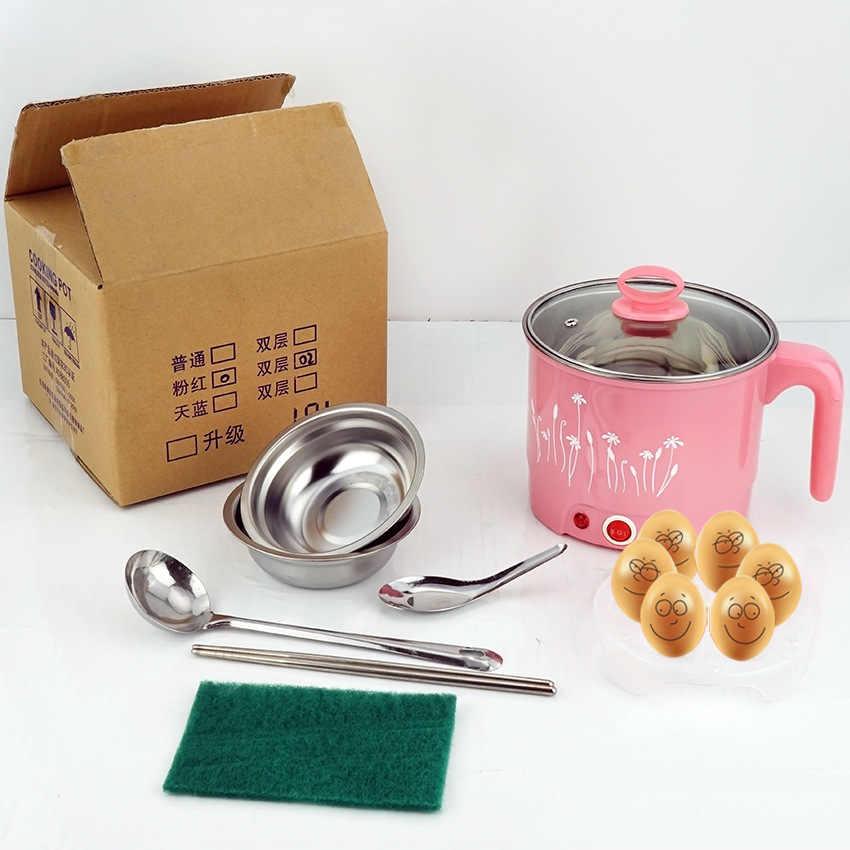 Mini Elétrico Estudante dormitório Casa Multi-função Mingau de Macarrão de Arroz Panela Quente Panela de Sopa Steamer Ovo Caldeira