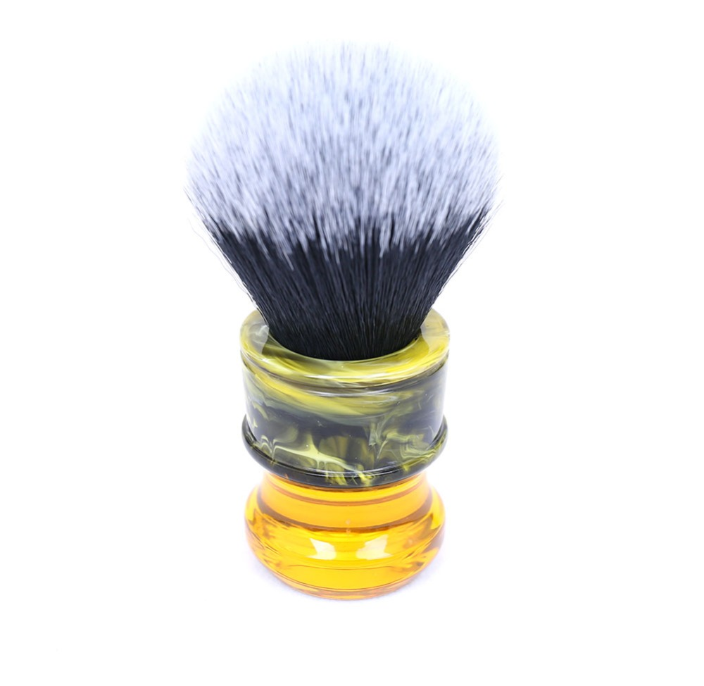 24MM Black/White Tuxedo Synthetic Fiber Resin Handle Men's Wet Shave Brushes