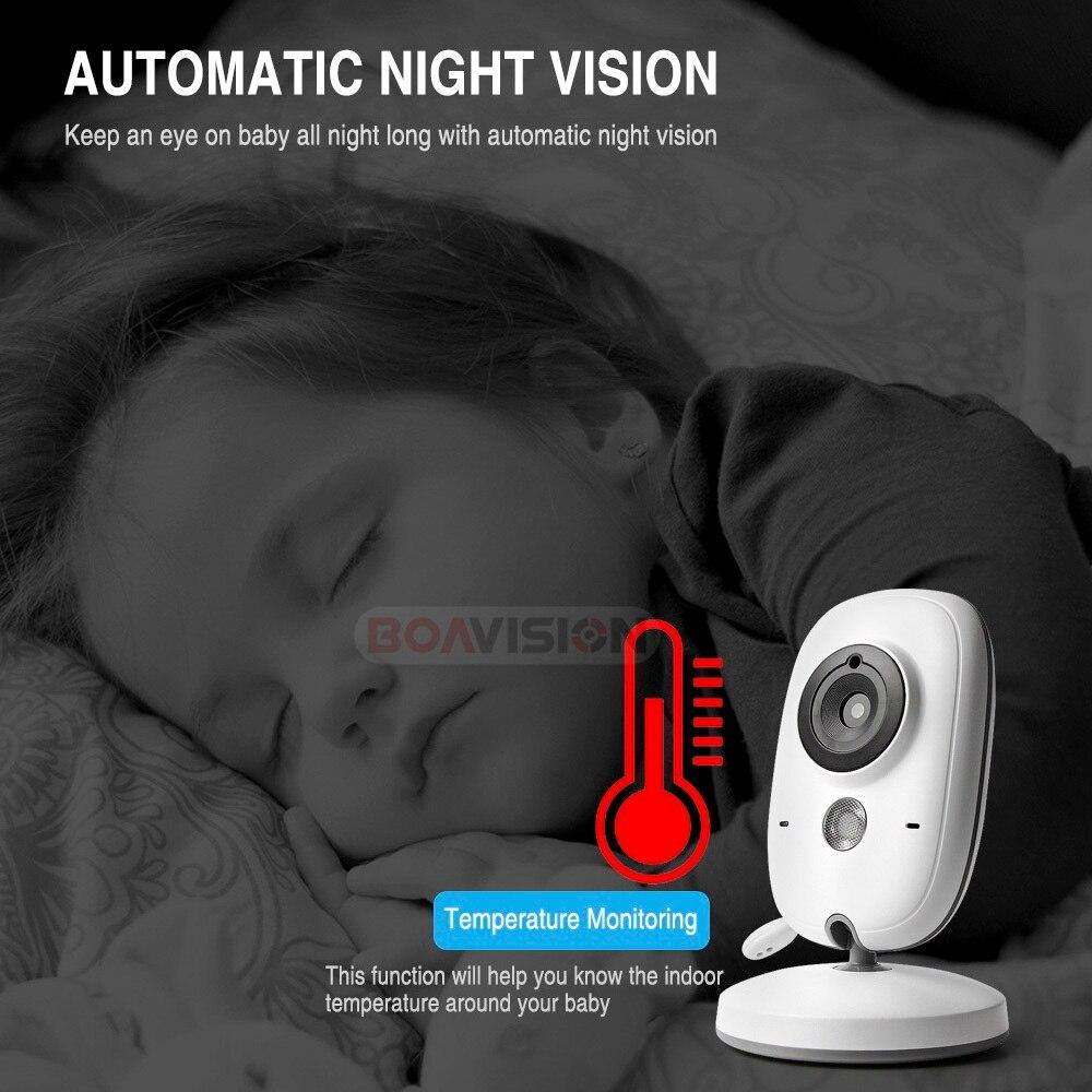 VB603 moniteur vidéo bébé 2.4G sans fil avec 3.2 pouces LCD 2 voies Audio parler Vision nocturne Surveillance caméra de sécurité Babysitter - 5