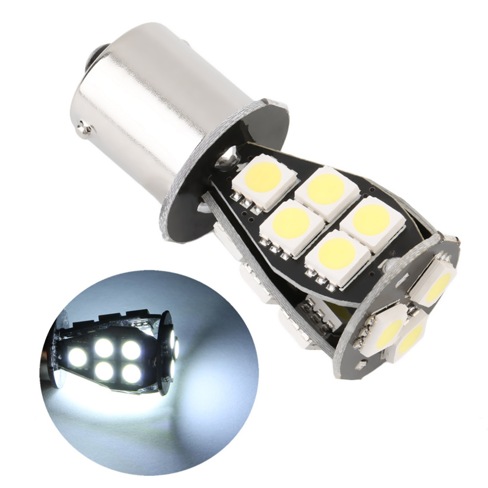 Top Selling Automobile Zone High Quality CANBUS Error Free 1156 BA15S 18 SMD 5050 LED Signal P21W Car Auto Tail Brake Stop Light Bulb Lamp DC12V