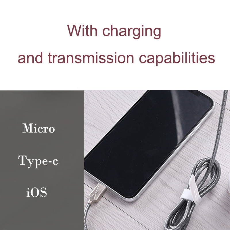 New Arrivals Mobile Phone Data Cable Charging Line Micro Type-c Andrews iOS 1m Line For iOS7 8 9 10 Copper Core Material