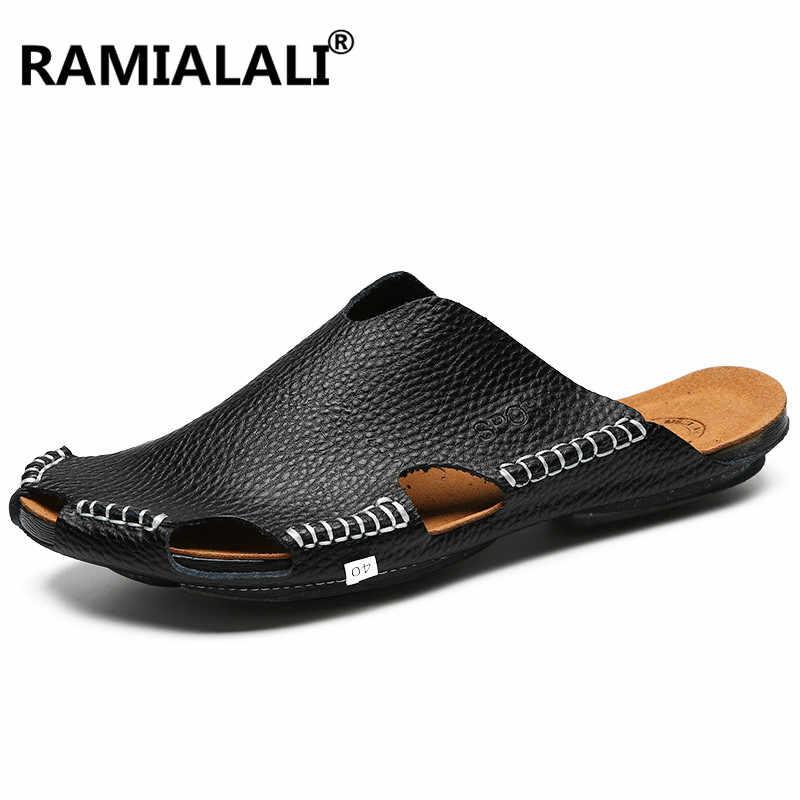 6eb15c767 Classic Quality Genuine Leather Sandals Men Summer Shoes Lightweight  Comfort Men Beach Sandals Casual Men Shoes