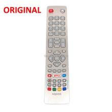 Controle remoto para tv shwrmc0115, novo, original, para aquos, smart, led, tv, controle ir, com netflix, youtube, botão 3d, harry potter