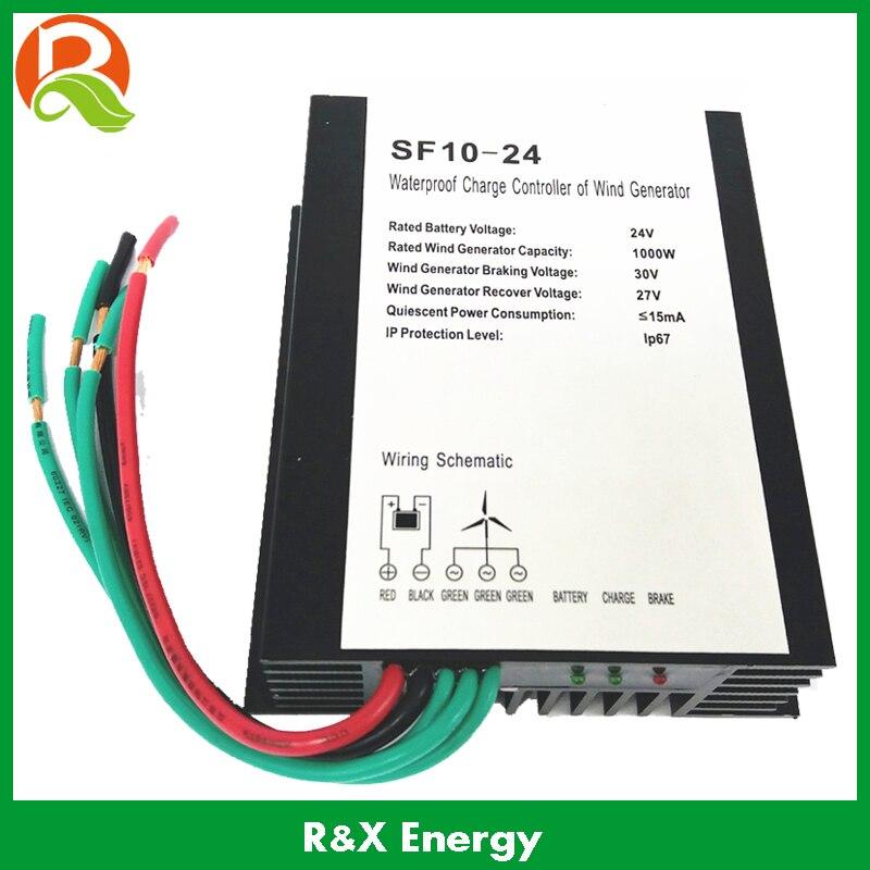 1kw régulateur de générateur d'éolienne 24 V/48 V contrôleur de charge de batterie en option pour 1kw générateur de vent étanche IP67