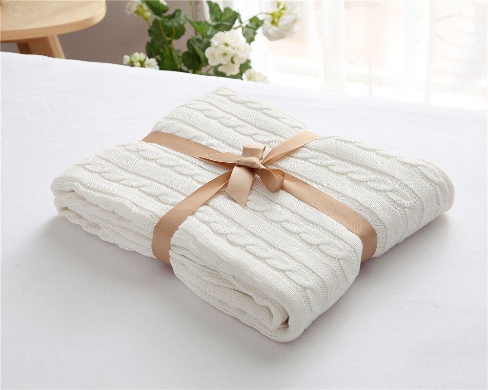 Offre spéciale pastorale pur blanc mode motif été climatisation couverture bébé 100% coton haute qualité couvertures pour lits