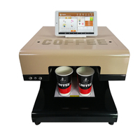 4 cups Selfie latte coffee printer come with 8 inch tablet PC present