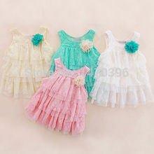 Kids Toddlers Girls Summer Layered Dress Princess Party Lace Tutu Dress