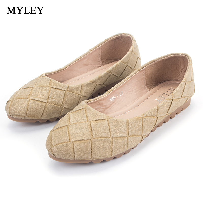 MYLEY Women's Flats Fashion Cute Slip-On Low Heel Driving Shoes Casual Boat Shoes Round Toe Brand Shallow Mouth Ladies Footwear siketu sweet bowknot flat shoes soft bottom casual shallow mouth purple pink suede flats slip on loafers for women size 35 40