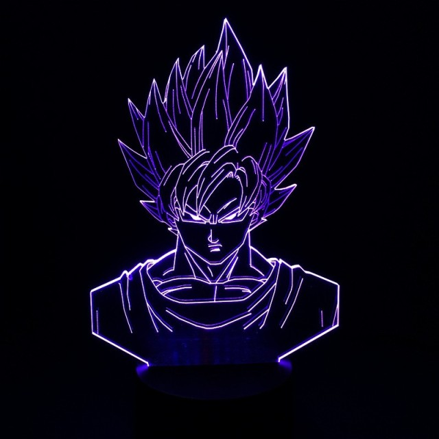 Dragon Ball Z Super Saiyan 3 Goku Action Figures 3D Table Lamp