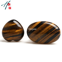 4cm Natural Crystal Craft Christmas Birthday Valentine S Gift Tiger Eye Heart Home Decoration Accessories Wholesale