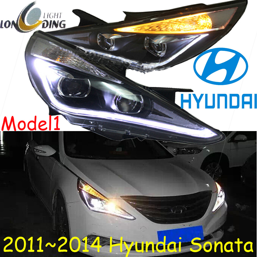 car-styling,Sonata headlight,2011~2014,Free ship!Sonata fog,LED,ix45,santa fe,tucson,Sonata head light,Veracrus