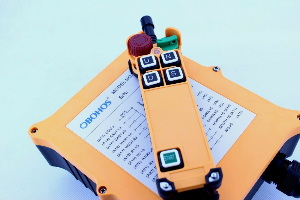 OBOHOS haute qualité grue industrielle télécommande HS-4D sans fil transmetteur bouton poussoir interrupteur