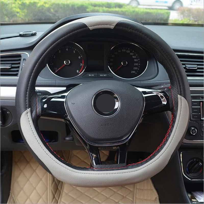 2017 D model microfiber leather cover on the steering wheel of the car braid case steering-wheel cover 38 cm covers