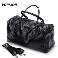 VORMOR PU Leather Men Travel Bags Carry on Luggage Bags Men Duffel Bag Travel Tote Large Weekend Bag Overnight high Capacity