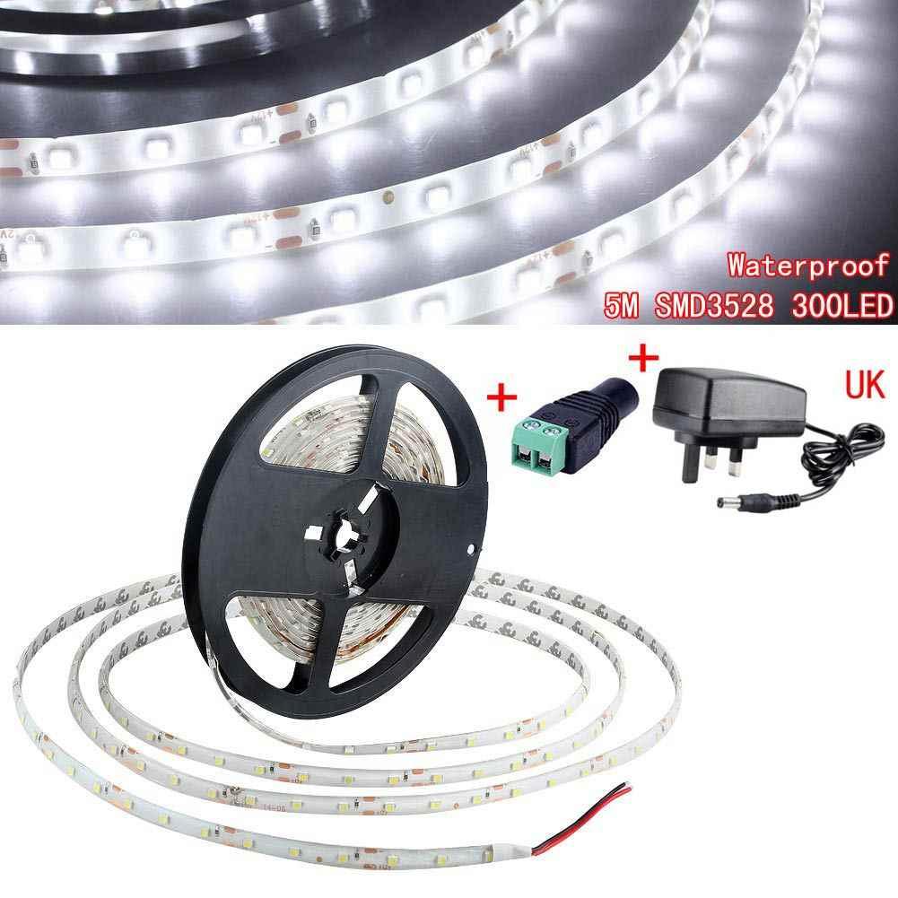 Красочные SMD 3528 5 м Водонепроницаемый IP65 светодиодный гибкий комплект полосы света домашняя декорационная лампа с блоком питания постоянного тока 12 V адаптер переменного тока