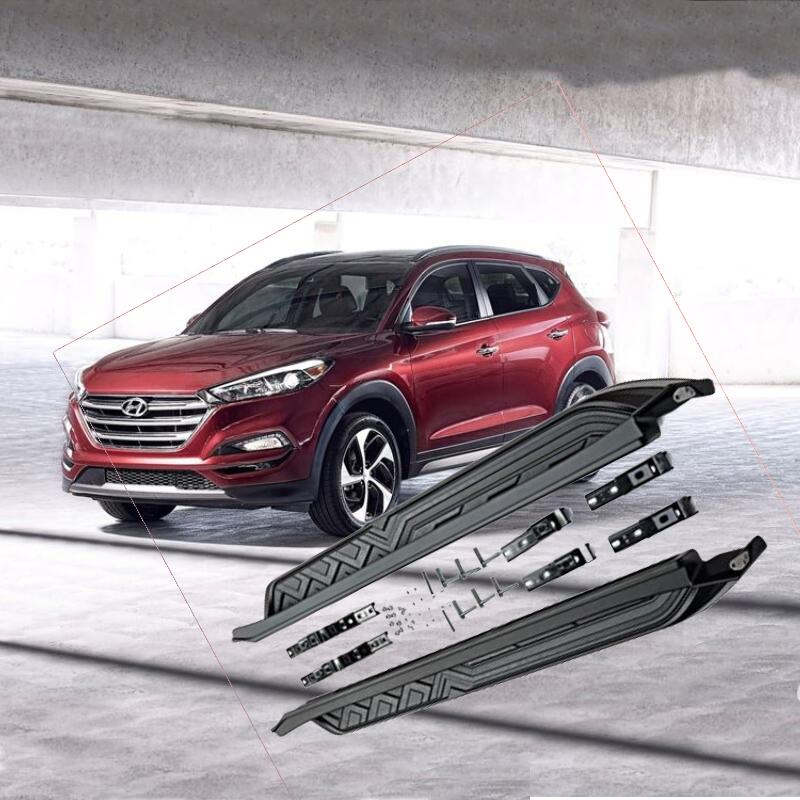 For Hyundai Tucson 2015 2016 2017 2018 2019 Running Boards Auto Side Step Bar Pedals High Quality European Style Nerf Bars