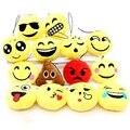 Cara linda de Algodón cubierta Taburete Emoji Smiley Divertido Llavero Llavero Titular Colgante símbolo para Las Mujeres de la historieta de humor Suave Accesorio