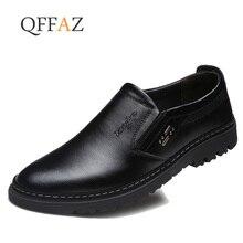 a0e37a345d157 QFFAZ de cuero genuino de cuero suave de los hombres zapatos de los hombres  mocasines de cuero genuino de la marca de lujo de lo.