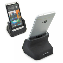 High quality Dual Battery Charger Dock station Cradle Stand Holder + USB cable For HTC One M7 wholesale