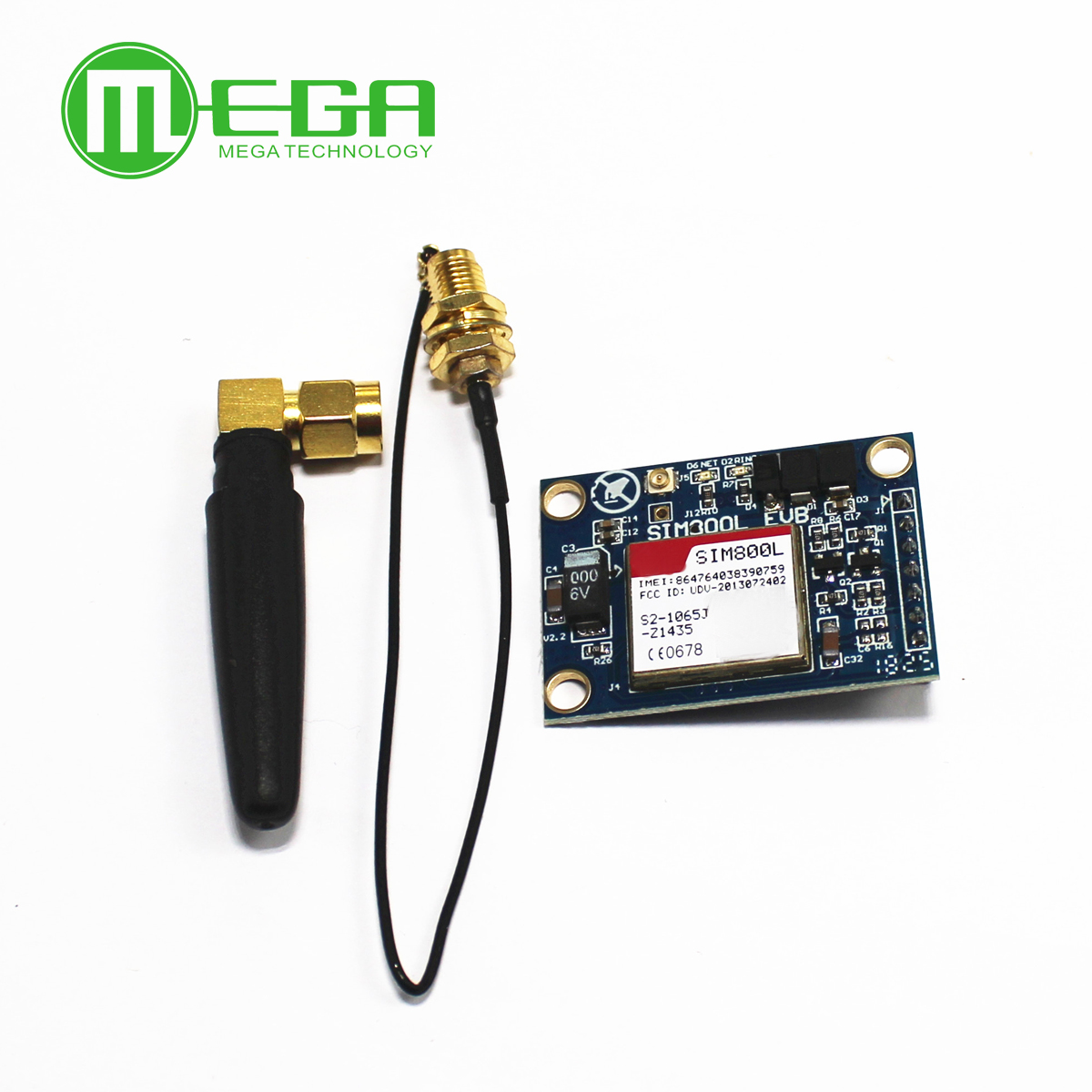 New SIM800L V2.0 5V Wireless GSM GPRS MODULE Quad-Band W/ Antenna Cable Cap