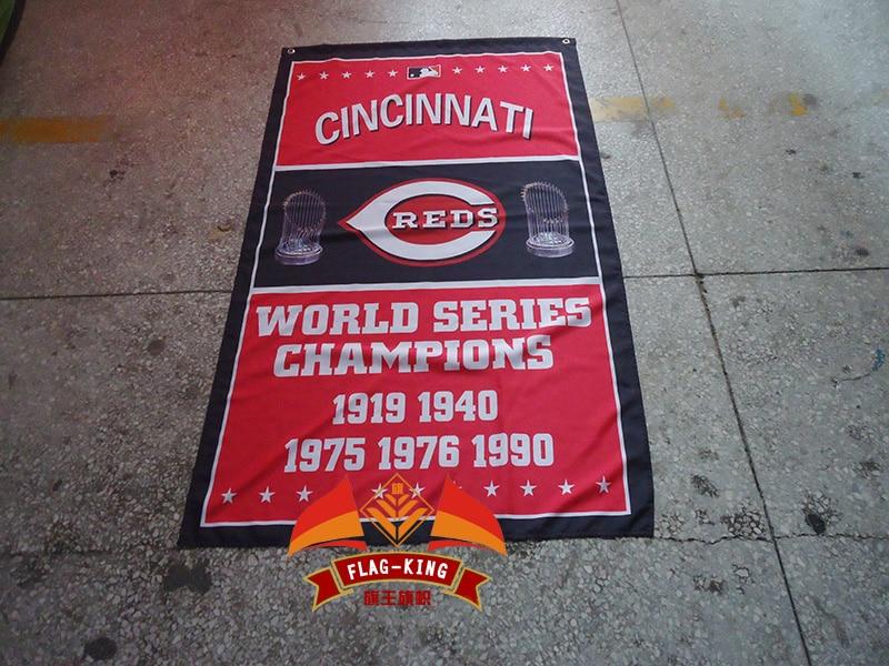 Cincinnati Reds Major League USA Baseball MLB Team banner 3x5ft 100D high quality polyester