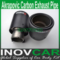 Inlet 63mm to Outlet 90mm Akrapovic Carbon Exhaust Muffler Tip Universal End Pipes Carbon Universal Exhaust Tips