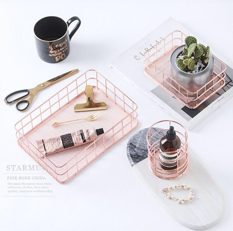 Organizer, Iron, Style, Combination, Rose, Stationery