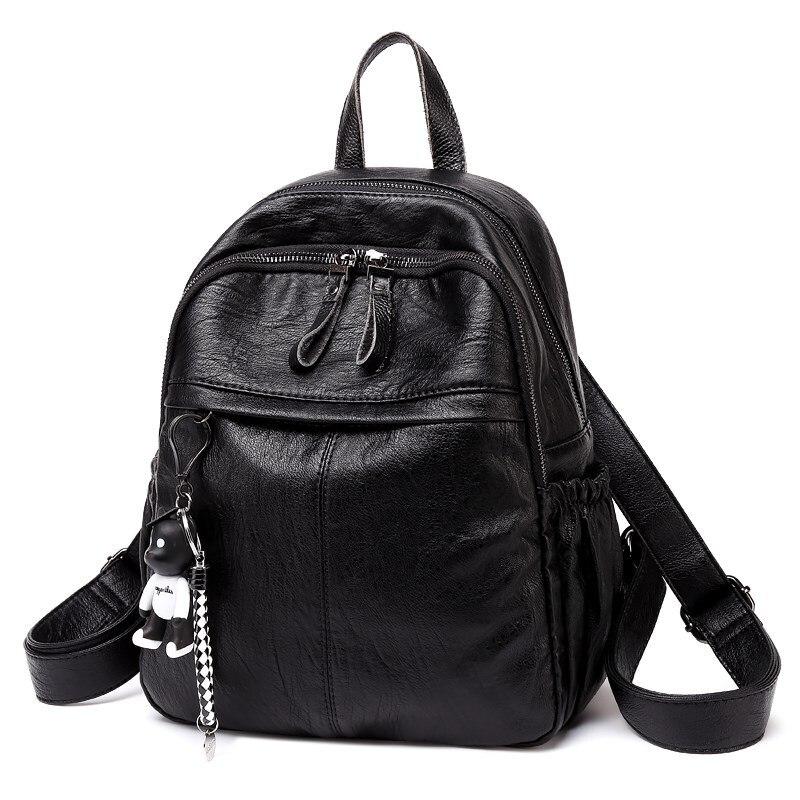 Women's Backpacks Genuine Leather Female Backpack Travel Mochila Feminina Handmade backpacks for teenage girls vintage new C318