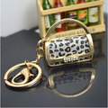 Fashion Hollow Leopard Women Handbag Key Chain Llaveros Mujer Bag Charm Porta Chaves Key Chains Key Rings K0008