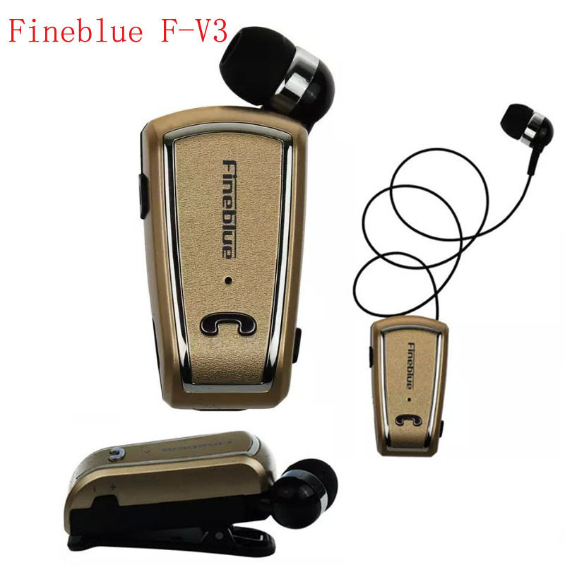 Fineblue F-V3 Mini Wireless driver auriculares Stereo Bluetooth Headset Retractable Clip Running Earphone for Phone ecouteur