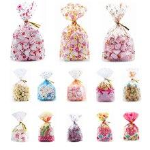 50pcs פלסטיק תיק עבור מתנה 13X19cm סוכריות וממתקים אריזת שקיות יום הולדת חתונת מסיבת חג מולד גלישת מתנה