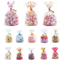 50pcs Plastic Bag For Gift 13X19cm Candies And Sweets Packaging Bags Birthday Wedding Party Christmas Gift Wrapping