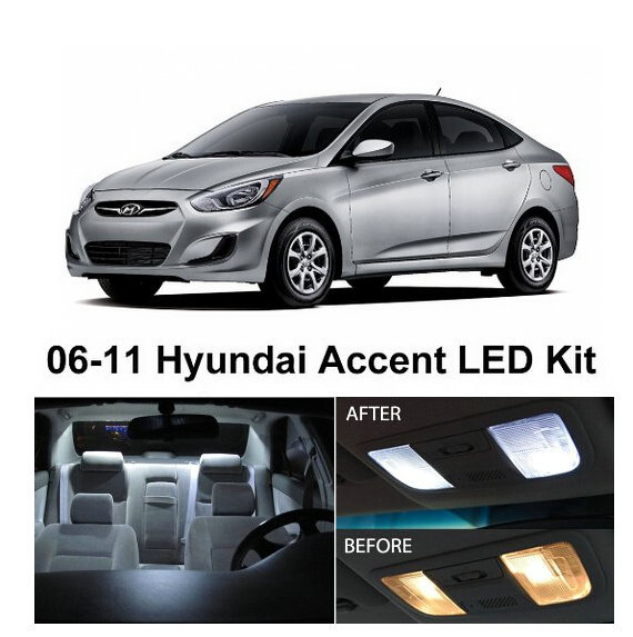 2014 Hyundai Accent Interior: Free Shipping 7Pcs/Lot Car Styling Xenon White Package Kit