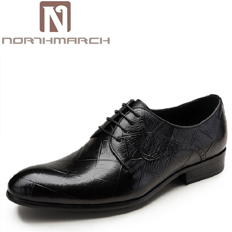 NORTHMARCH Men Shoes New Embossed Leather Oxford Shoes Fashion Gentleman Genuine Leather Wedding Dress Business Brand Men Shoe goldenlake brand 2016 new fashion men summer genuine leather shoes men s casual shoes mens oxford shoe for men gl8229