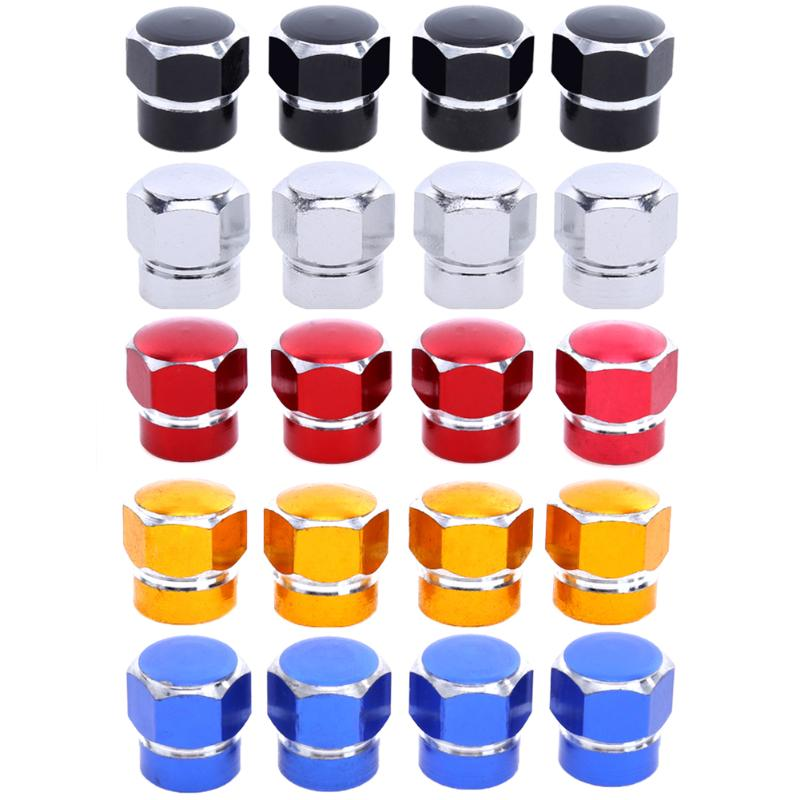 VODOOL 4Pcs Aluminum Alloy Car Wheel Tire Valve Stem Caps Auto Motorcycle Bicycle Tires Valves Tyre Stem Air Caps Airtight Cover