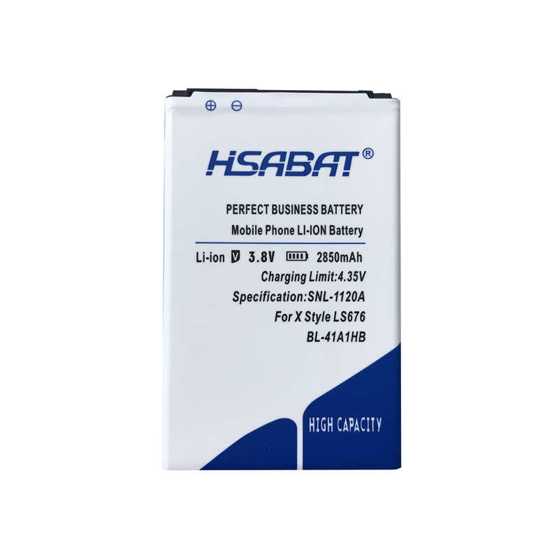 HSABAT 2850 мАч BL-41A1HB Аккумулятор для LG X Стиль дань HD Boost Mobile X Стиль LS676 L56VL