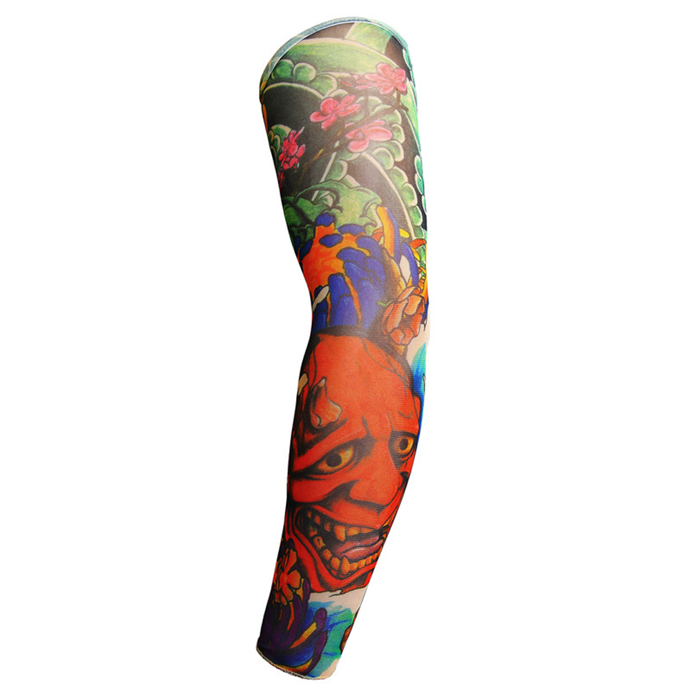 62588dc81a1d8 YJSFG HOUSE 1Pcs Arm Warmers Men High Elastic Fake Temporary Tattoo Sleeve  Summer Sunscreen Body Arm Warmer HipHop Punk Drive -in Arm Warmers from  Apparel ...