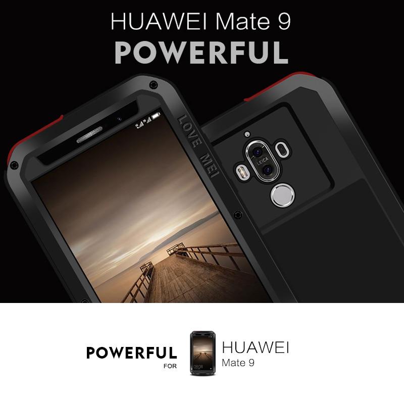 imágenes para Cubierta A Prueba de Choques impermeable para Huawei Mate 9 Caso de Vivienda para Mate 9 Casos De Aluminio Armadura Duro Mate 9 Caso Con Gorilla Glass