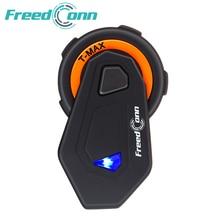 Freedconn T-MAX Motorcycle Headset 6 Riders Communication 1500m Motorbike Helmet Group Intercom FM Radio Bluetooth 4.1