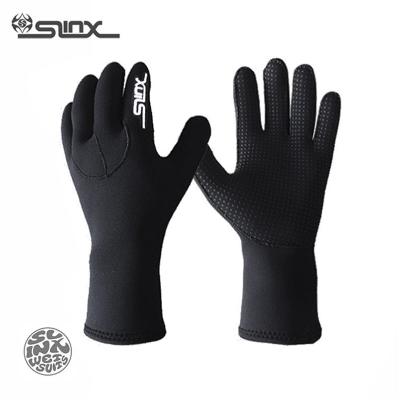 SLINX 3mm Neoprene Men Women Warm Scuba Diving Gloves Loves Swimming Surfing Spearfishing Snorkeling Boating Fishermen Equipment