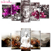 5 PCS Multi Picture Diamond Painting Buddha Art Gifts Room Decor Diamond Mosaic Embroidery Religion Rhinestones