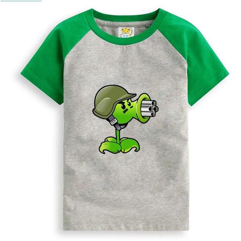 Plants vs. Zombies Cartoon Children T Shirts Boys Kids T ...