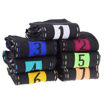 NEW Novelty Daily Socks 7 Days Week for Men (7 Pair/Set)Black
