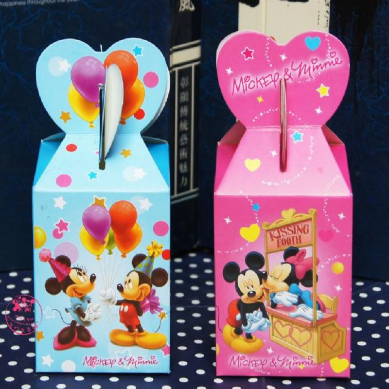 100 X Cartoon Mickey Mouse Baby Shower Favors Box Candy Gift Box