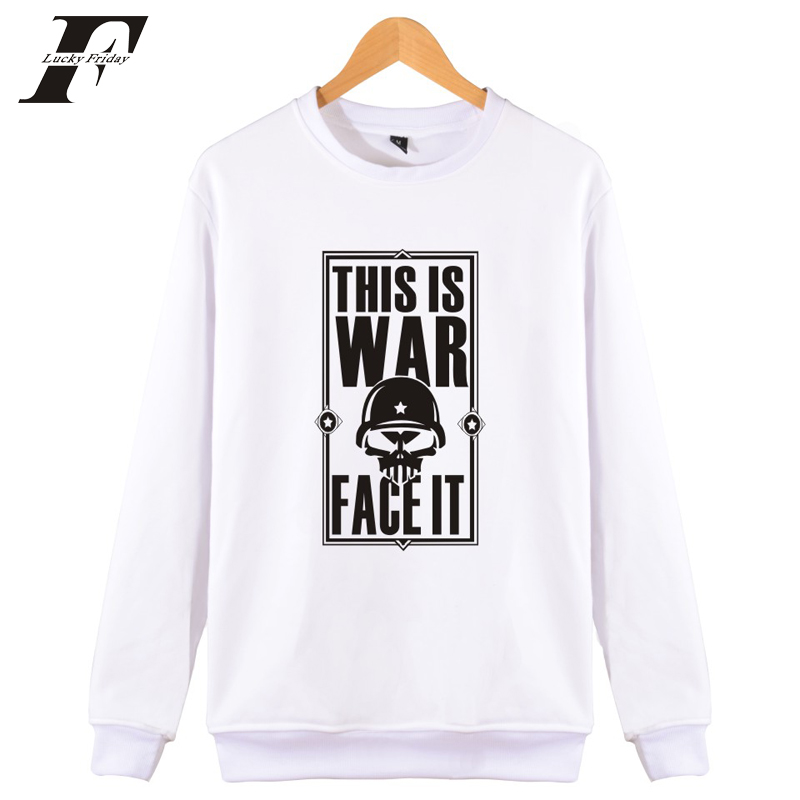 LUCKYFRIDAY Warface Sweatshirts for Man/women 2017 casaco moletom masculino autumn hoodies and sweatshirts brand clothing