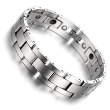 Tungsten Magnetic Hematite Mens Bracelet 8″ Health Care Jewelry Wristband B1405